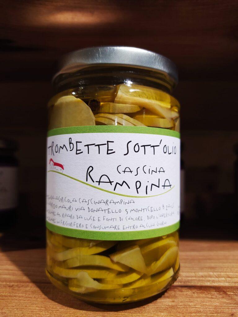 Zucchine trombetta sott'olio - 180 g